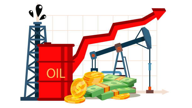 illustrations, cliparts, dessins animés et icônes de inflation des coûts pétroliers, dessin vectoriel de la littératie financière - inflation