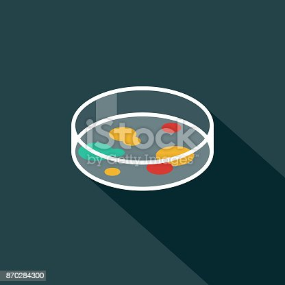 istock Petrti Dish Flat Design Science & Technology Icon with Side Shadow 870284300