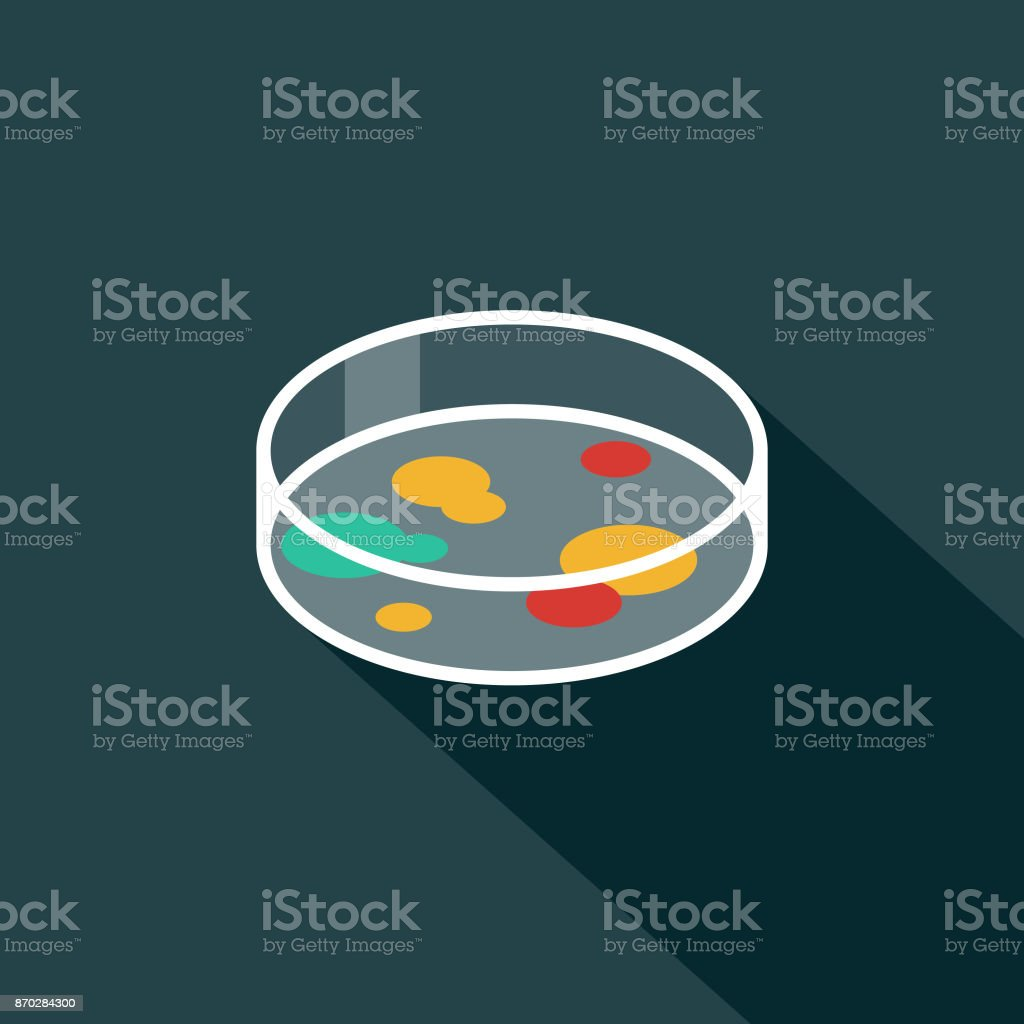 Petrti Dish Flat Design Science & Technology Icon with Side Shadow vector art illustration