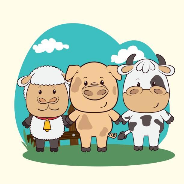 haustiere und tiere cartoons - lustige kuh bilder stock-grafiken, -clipart, -cartoons und -symbole