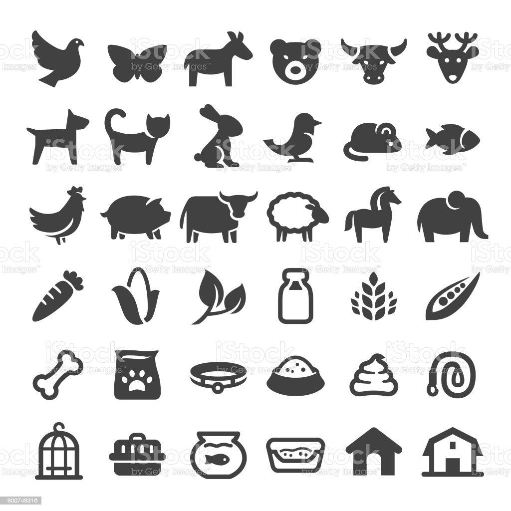 Pets and Zoo Icons - Big Series - illustrazione arte vettoriale