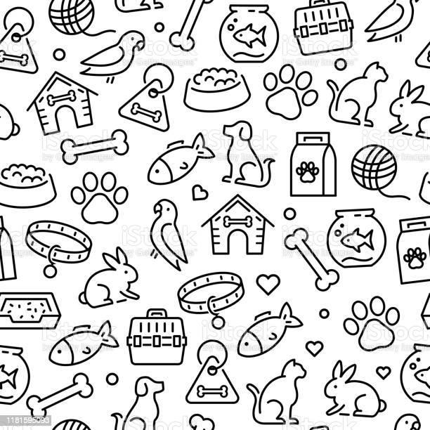 Pets animals icons seamless pattern vector id1181595093?b=1&k=6&m=1181595093&s=612x612&h=oja6o8qbmonnc77jy0eqw1fmm1wdsa6jfbkgwf5jvz8=