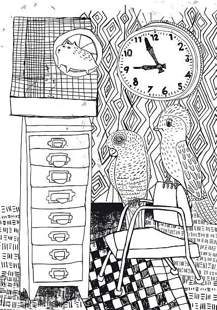 haustier wie zu hause fühlen. - hamsterhaus stock-grafiken, -clipart, -cartoons und -symbole