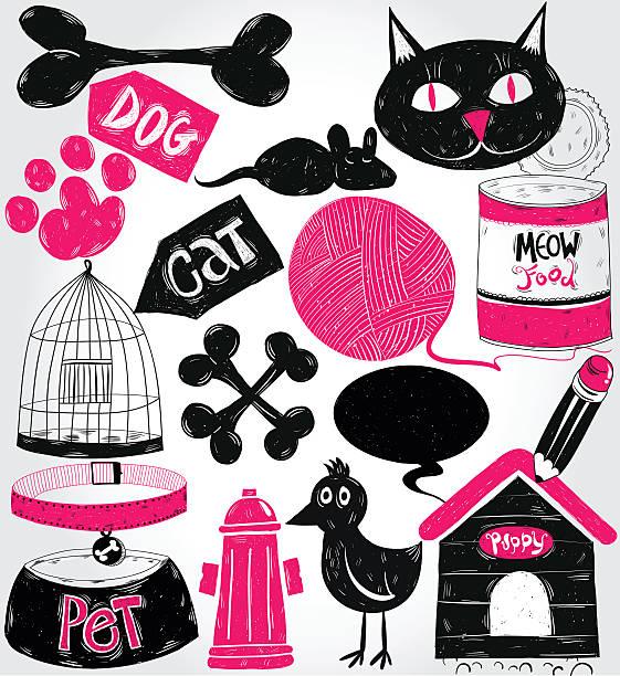 illustrations, cliparts, dessins animés et icônes de les animaux de compagnie et crayonnages - dessin cage a oiseaux