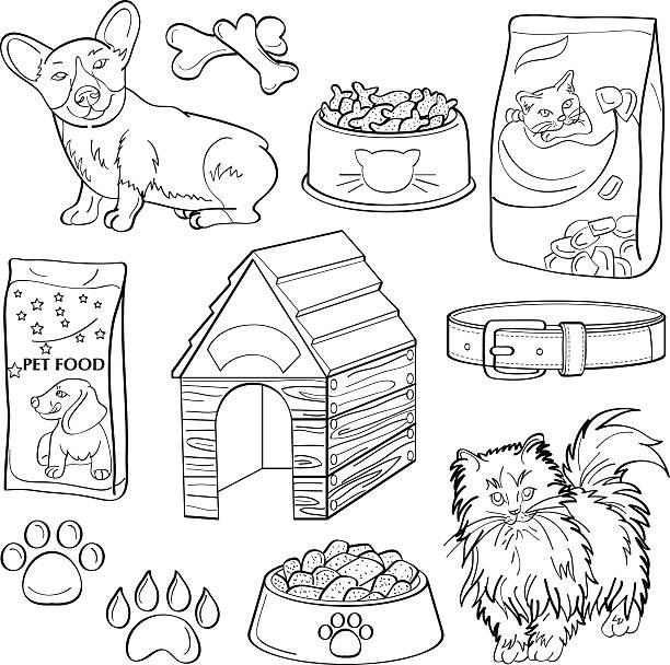 pets elements - dog treats stock illustrations