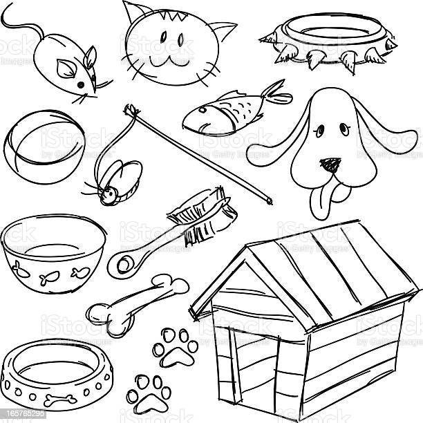 Pets equipment set in black and white vector id165765295?b=1&k=6&m=165765295&s=612x612&h=yrmekfnu4kbhvk 6odq9t9un1tzqtqc b fkmklqzky=