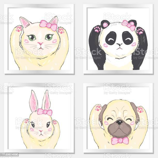 Pets face dog cat and rabbit vector id1133624590?b=1&k=6&m=1133624590&s=612x612&h=sbvsztesk3qdg 3nohdx7lr7sj1la1pifb x3mtklwk=