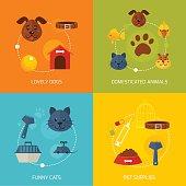 Pets flat compositions
