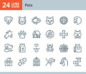 Vector Line icons set. One icon consists of a single object. Files included: Vector EPS 10, HD JPEG 3000 x 2600 px