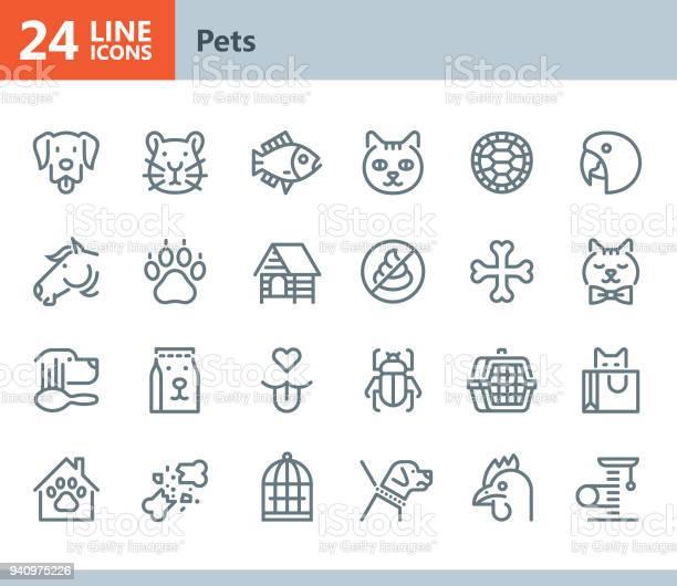 Pets line vector icons vector id940975226?b=1&k=6&m=940975226&s=612x612&h=e4tdl ywmwebbp40nhjlvtm t1s4btwuhy2eqt7bfno=