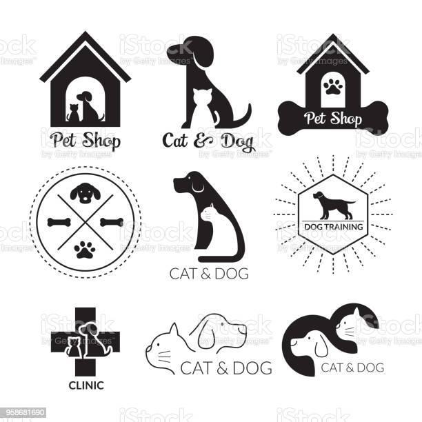 Pets logo and symbol black and white vector id958681690?b=1&k=6&m=958681690&s=612x612&h=awrzzfcc55lauenivjavt5t4ecvnjqsyd8ypev4 g7m=