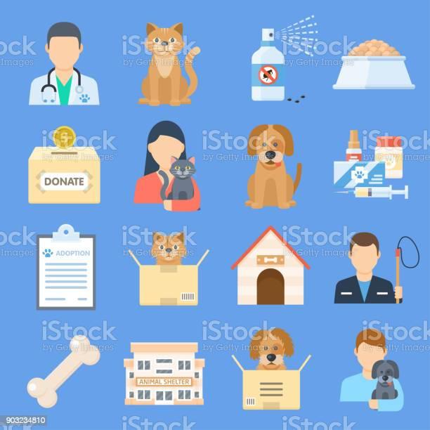 Pets shelter icon set vector id903234810?b=1&k=6&m=903234810&s=612x612&h=ydpywnuecpchspt1uoirujoqwp2edjgrrsgb dpbk 8=