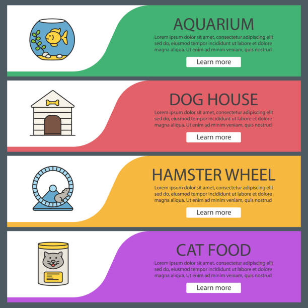 haustiere suppplies symbole - hamsterhaus stock-grafiken, -clipart, -cartoons und -symbole