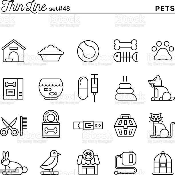 Pets thin line icons set vector id518911704?b=1&k=6&m=518911704&s=612x612&h=1ulfoxrudlfgogulmagvg84 126xfjni48uwmsp71jy=
