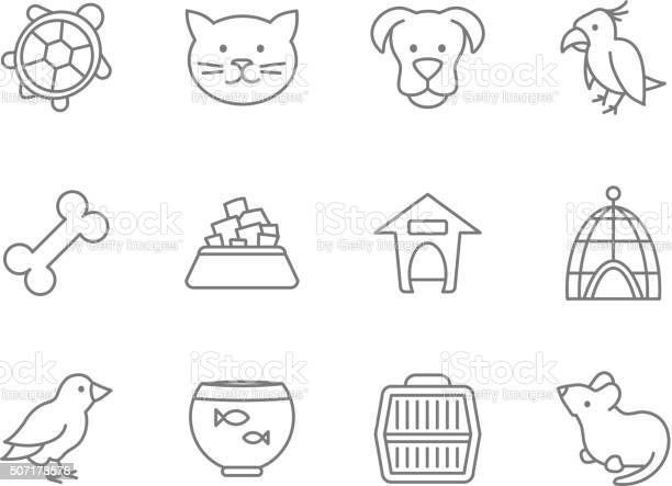 Pets vector icon set in line art style vector id507178578?b=1&k=6&m=507178578&s=612x612&h=ytp8lc2dl3uhzme5bwdzi87sga3qyv4m0oxwzdbh1l4=