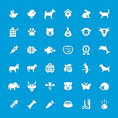 Animals and Pets vector icons - set #22
