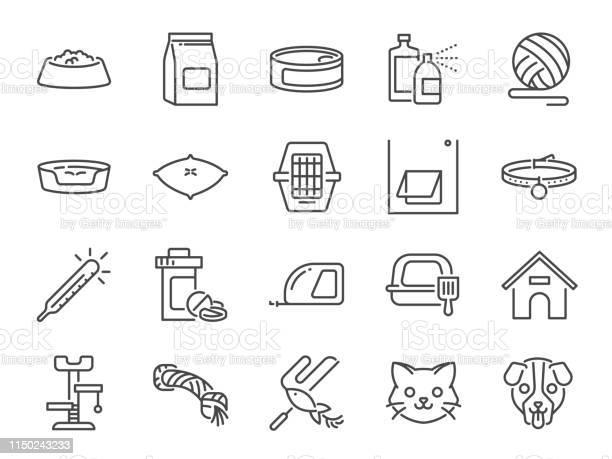 Petshop line icon set included icons as pet shop pets cat dog vitamin vector id1150243233?b=1&k=6&m=1150243233&s=612x612&h=j2qlonfh2b 3ccb7vxrvdmlkhd5mevb8g bdfut6vg8=