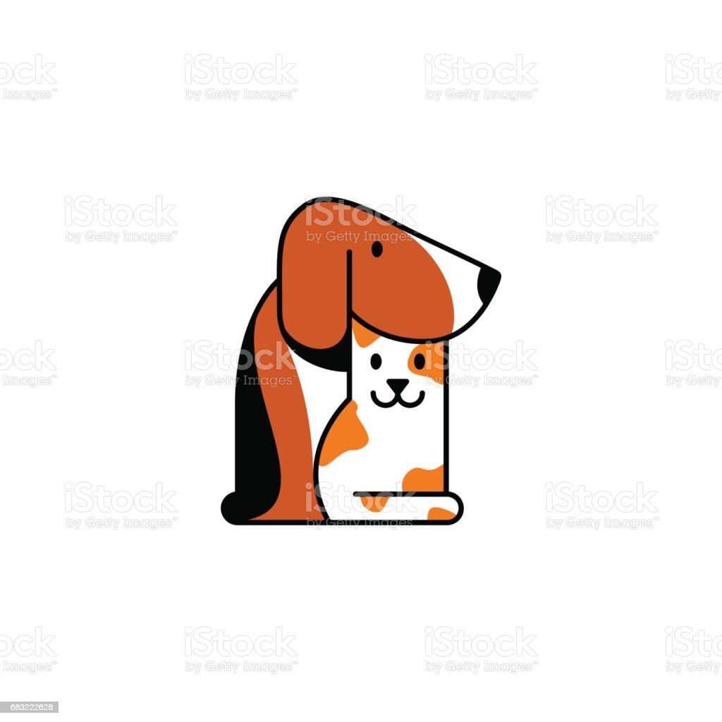 Petshop 또는 수의학 클리닉 로그인 royalty-free petshop 또는 수의학 클리닉 로그인 개 - 개과에 대한 스톡 벡터 아트 및 기타 이미지