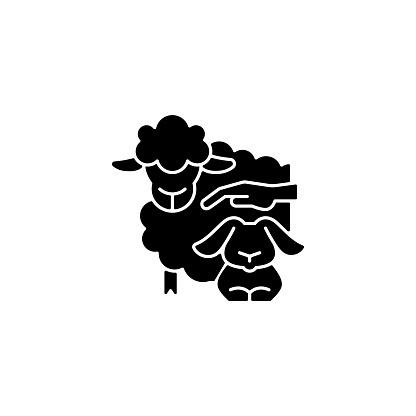 Petting zoo black glyph icon