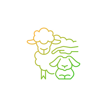 Petting zoo gradient linear vector icon