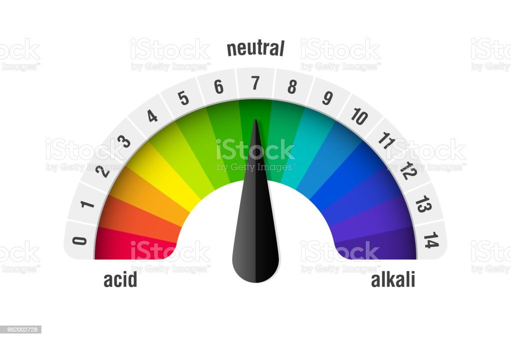 pH value scale meter vector art illustration