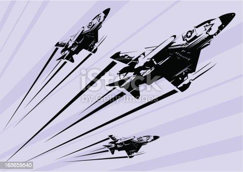 istock Phantom F-4 fighter jet stencil 165659540