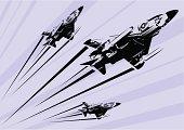Classic Phantom F-4 jet stencil.