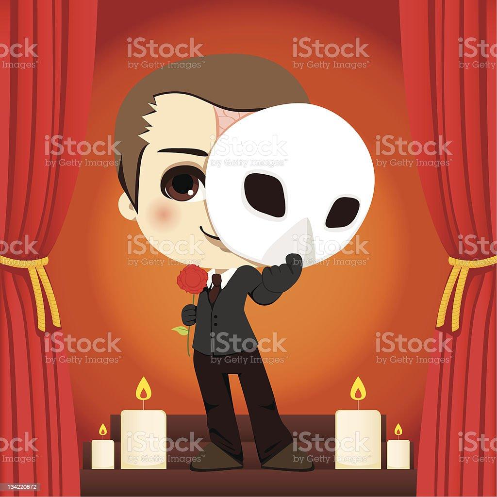Phantom of the Opera vector art illustration