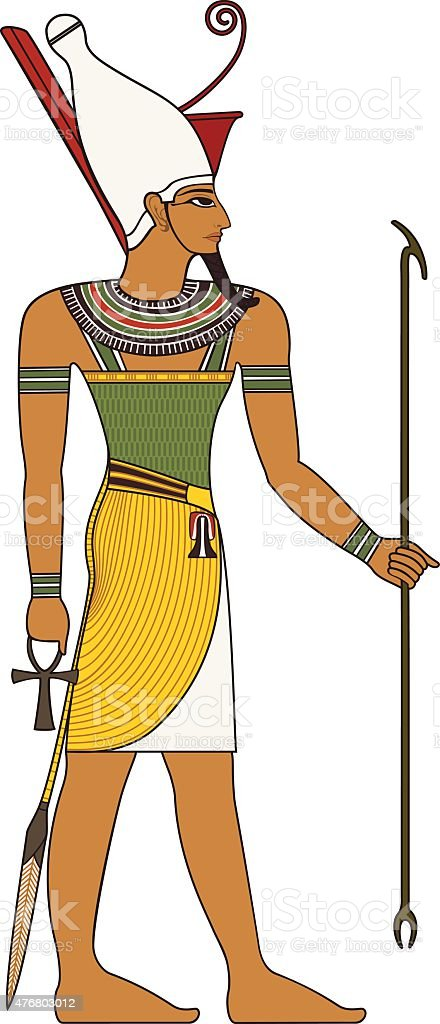 Pharaoh , egyptian ancient symbol vector art illustration