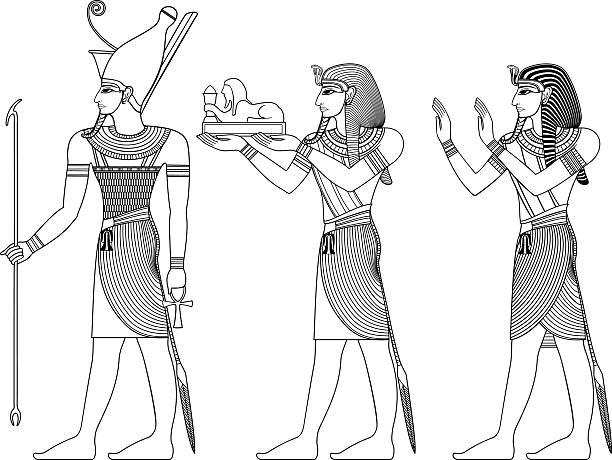 Pharaoh , egyptian ancient symbol Pharaoh , egyptian ancient symbol, vector set of ancient egypt deities egyptian culture stock illustrations