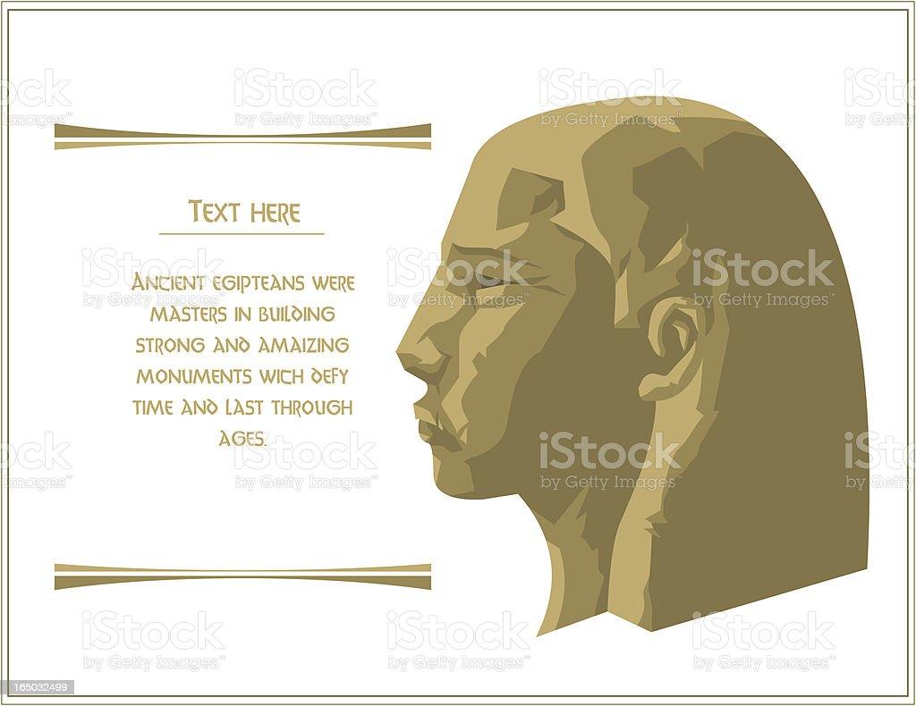 Pharaoh Head From Imagination royalty-free stock vector art