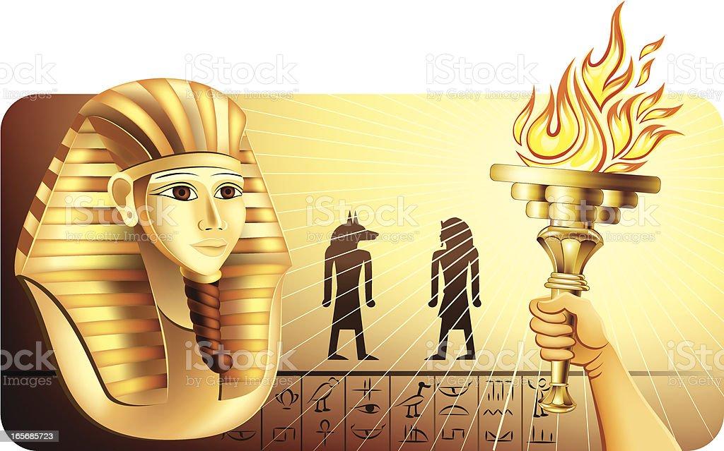 Pharaoh Mask Discovery vector art illustration