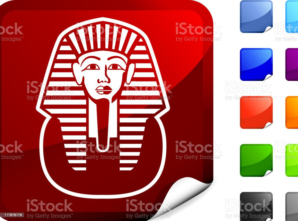 pharaoh on sticker royalty-free stock vector art