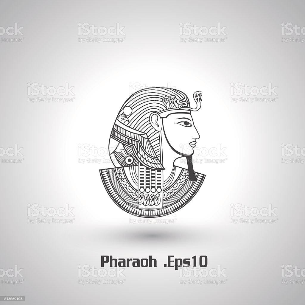 Pharaoh vector vector art illustration