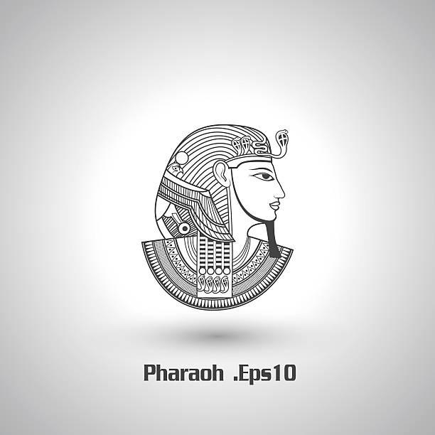 ilustrações de stock, clip art, desenhos animados e ícones de faraó vector - algarve