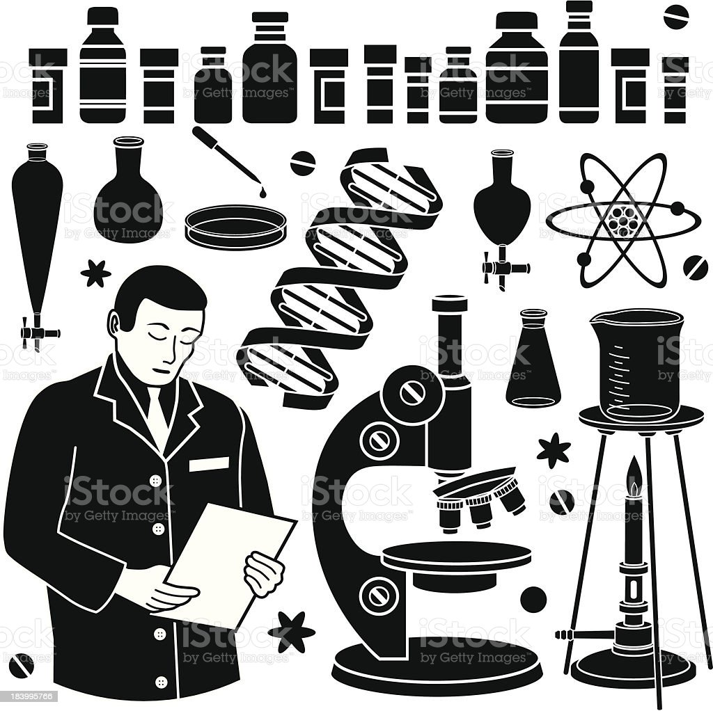 pharmaceutical research scientist royalty-free stock vector art