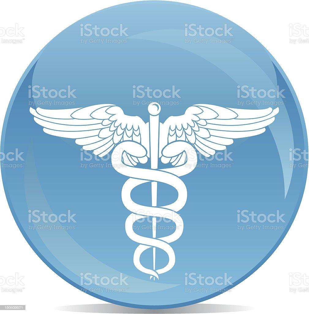 pharmaceutical sign white on blue ball royalty-free stock vector art