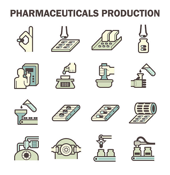 Royalty Free Pharmaceutical Manufacturing Clip Art, Vector ...