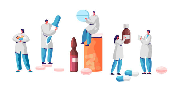 Pharmacist Character Medicine Drug Store Set. Pharmacy Business Industry Professional People. Online Health Care Infographic Background. Pill and Bottle Healthcare Flat Cartoon Vector Illustration Pharmacist Character Medicine Drug Store Set. Pharmacy Business Industry Professional People. Online Health Care Infographic Background. Pill and Bottle Healthcare Flat Cartoon Vector Illustration pharmacist stock illustrations