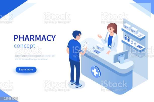 Pharmacist - Arte vetorial de stock e mais imagens de Apoio