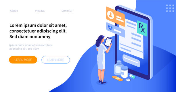 pharmacist Doctor pharmacist concept. Can use for web banner, infographics, hero images. Flat isometric vector illustration isolated on white background. pharmacist stock illustrations