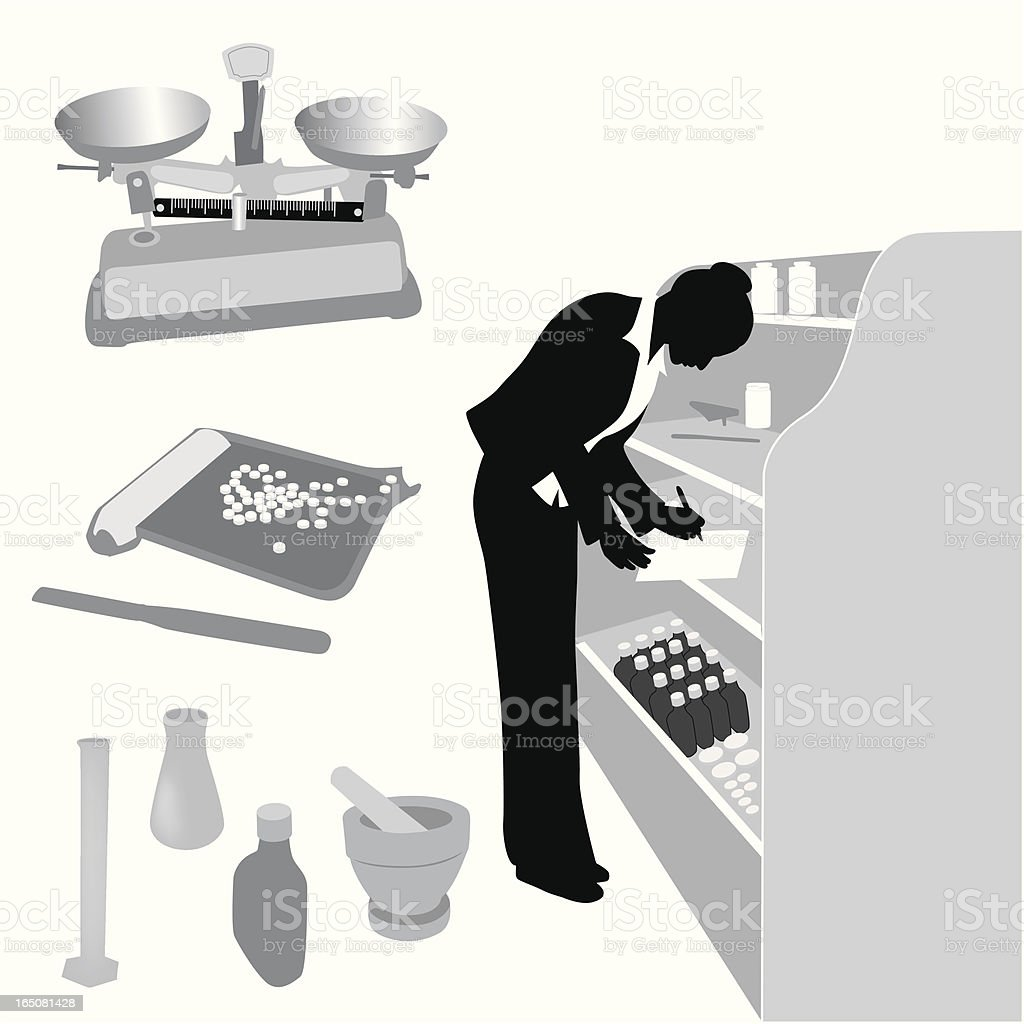 Pharmacist Vector Silhouette royalty-free pharmacist vector silhouette stock vector art & more images of adult
