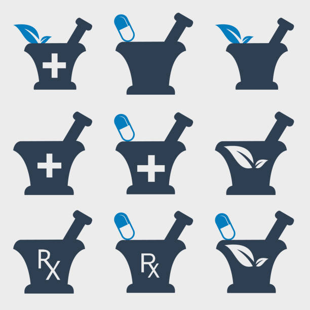 Pharmacy and Medical  icon set Pharmacy and Medical  icon set pharmacist stock illustrations