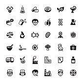 Pharmacy and Medicine - icons set