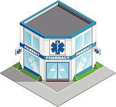 Pharmacy building.