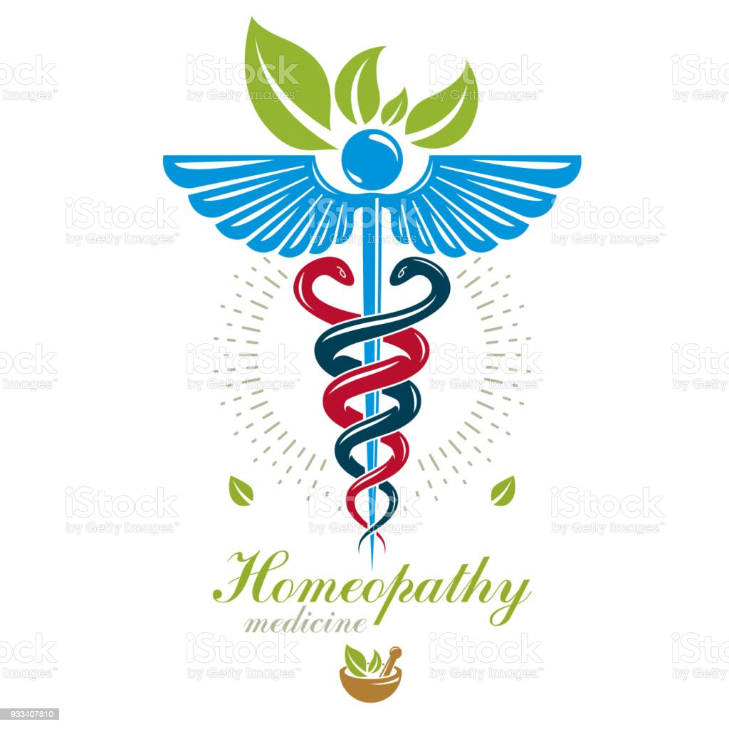 Pharmacy Caduceus Icon Vector Medical Icon For Use In Holistic