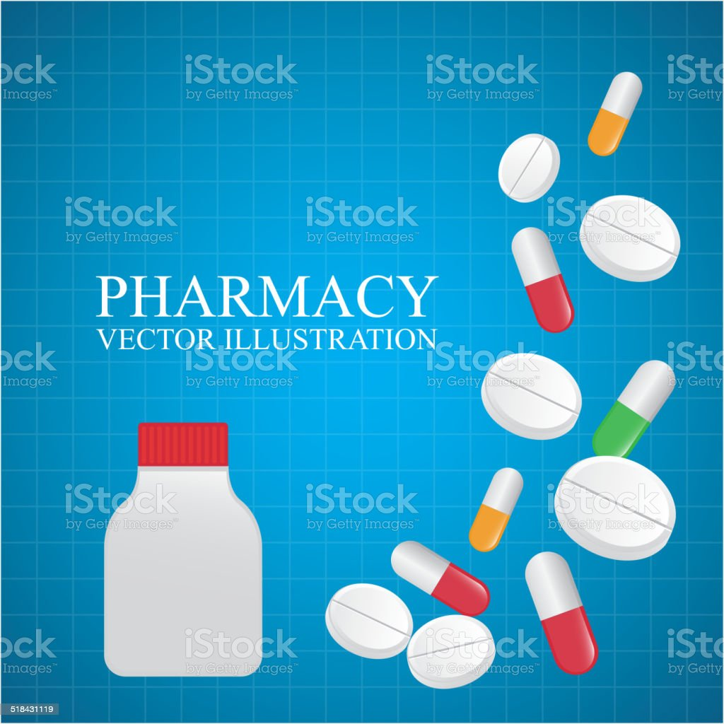 pharmacy design stock vector art more images of backgrounds