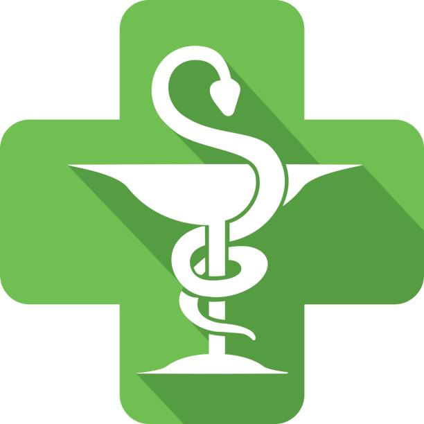 illustrazioni stock, clip art, cartoni animati e icone di tendenza di icona farmacia, - farmacia