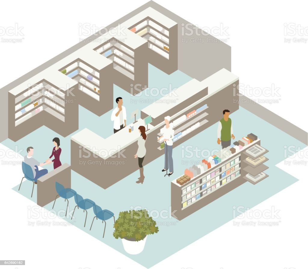 Pharmacy Illustration royalty-free pharmacy illustration stock vector art & more images of buying