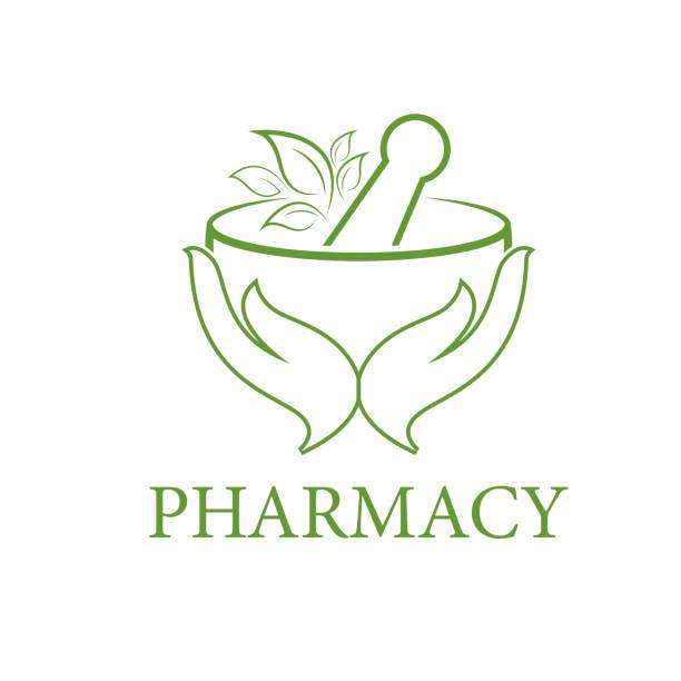 pharmacy logo icon vector template vector art illustration